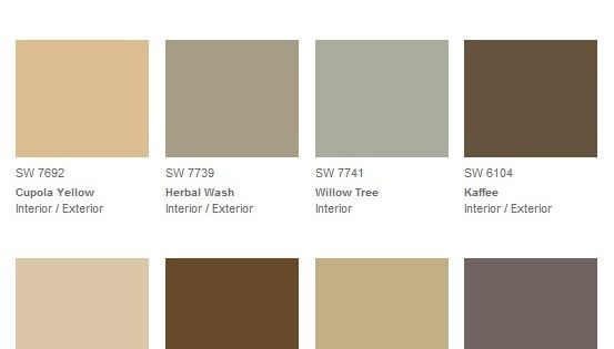 Mannered Gold Living Room Sherwin Williams