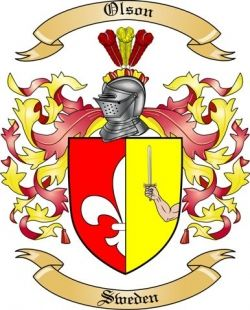 Learn My Family History Olson Coat Of Arms Swedish Family Crest Coat Of Arms My Family History