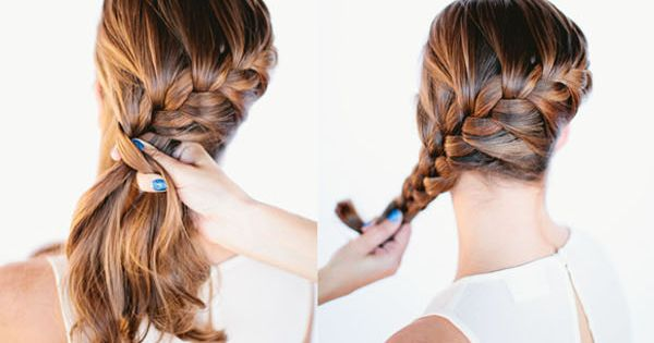FRENCH BRAID BUN HAIR TUTORIAL | She's Beautcute side bun