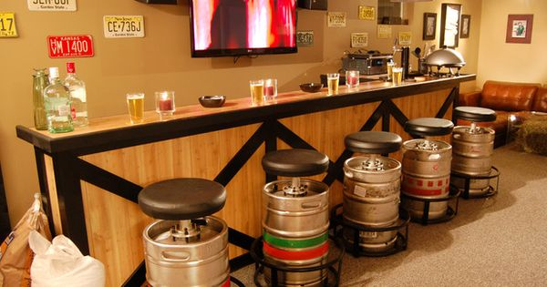 outdoor bars | ... ? Don't you think these keg bar stools