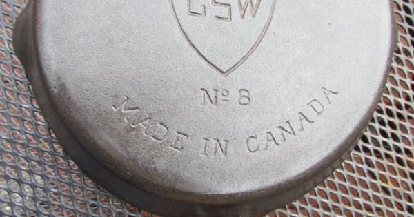 Antique Gsw No 8 Cast Iron Frying Fry Pan Skillet Canada