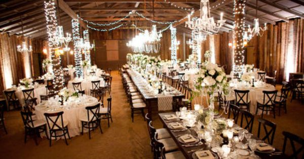 The Barn S Interior Was Transformed Into This Magical