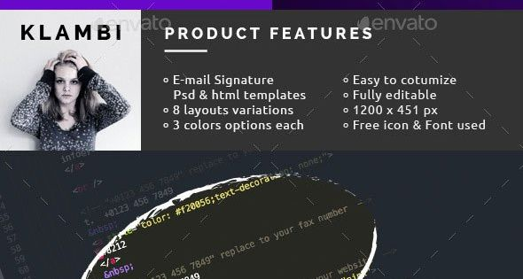 40 Best Email Signature Templates Psd Html Download Email
