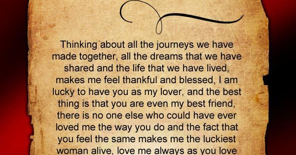 Thinking about all the journey's you have made together with your loved