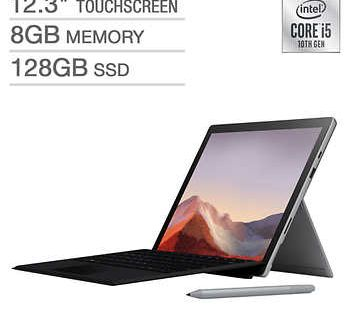 New Microsoft Surface Pro 7 Bundle 10th Gen Intel Core I5 2736 X 1824 Display Windows 10 Platinum In 2020 Microsoft Surface Microsoft Surface Pro Surface Pro