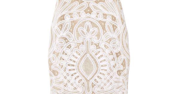 Alexander McQueen|Crochet-embroidered silk-organza dress