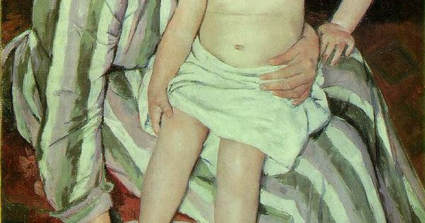 The child's mother or servant? -- The Child's Bath (The Bath) by
