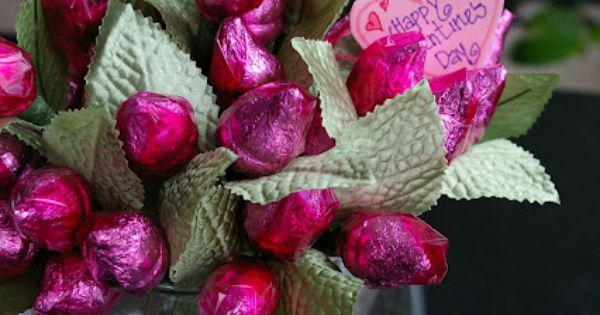 Hershey Kiss Valentines day roses.