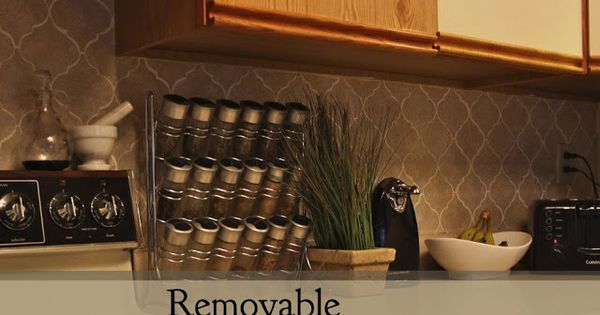 removable contact paper backsplash for just 3 apartment living
