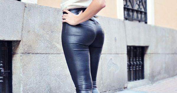 nude girls in latex pants