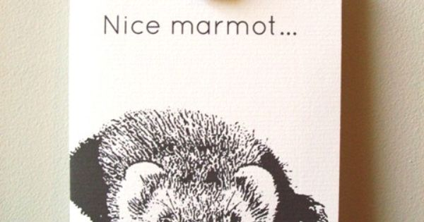 Big Lebowski Quote Card Nice Marmot By 4four On Etsy 4