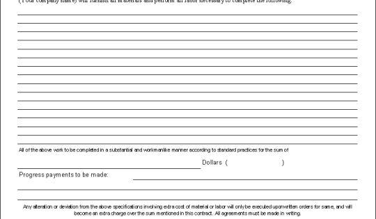 Construction Contract Template printable agreement Pinterest - construction proposal sample