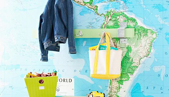 world map wallpaper for kids room