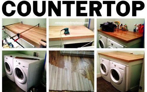 diy laundry room countertop easy build the laundry room