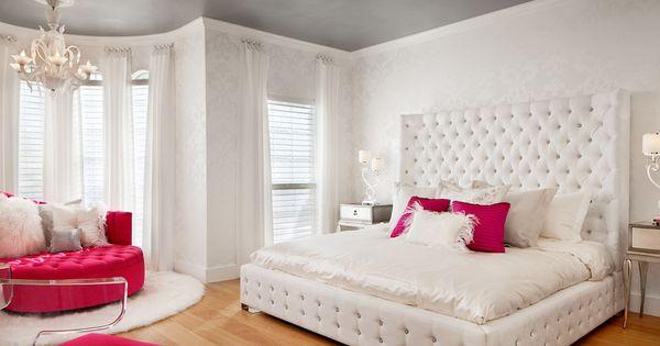 stunning hot pink bedroom | beautiful, bed, bedroom, classy, cozy, cute, decor ...