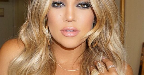Glam smokey eye & glow on Khloe Kardashian