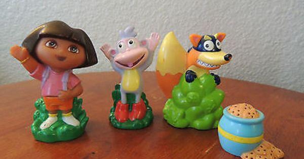 Lot 4 Dora Explorer Boots Swiper Cookie Jar Mini Figures