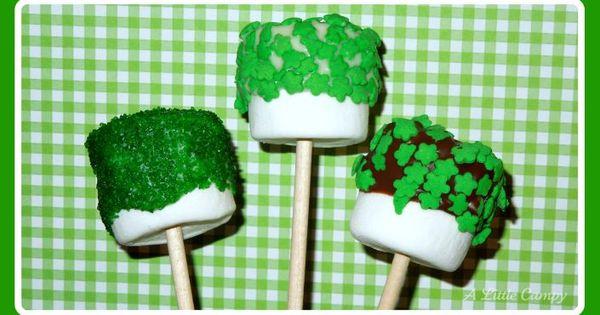 Preschool Crafts for Kids*: St. Patrick's Day Marshmallow Pops Recipe