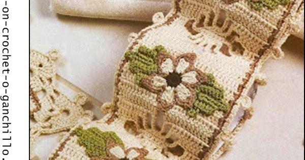 Ba o crochet crochet ganchillo patrones graficos for Decoracion hogar a crochet