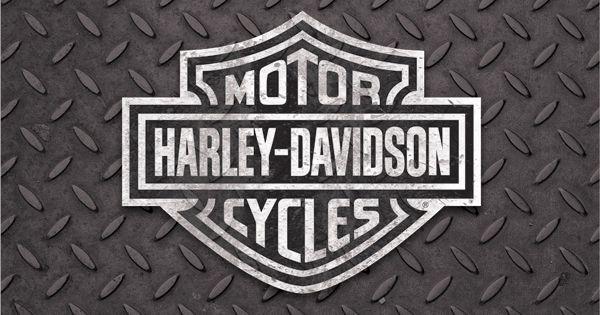 166 Best Images About Harley Davidson On Pinterest: Black And White Harley-Davidson Logo On Diamond Plate
