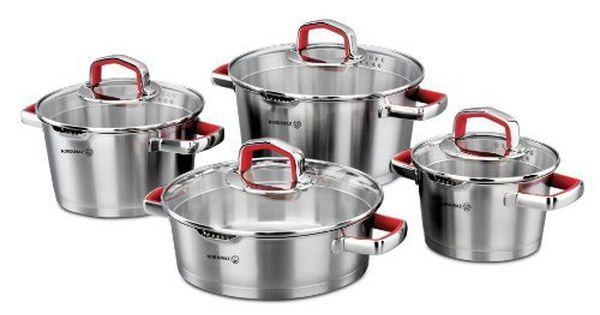 Korkmaz Vertex 8 Piece Cookware Set Red Cookware Set Kitchen Cookware Sets Cookware Set Nonstick