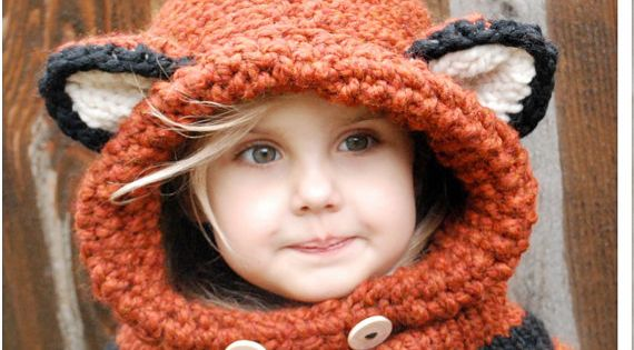KNITTING PATTERN - Failynn Fox Cowl (12/18 months - Toddler - Child - Adult s...
