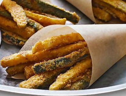 A healthier option for French Fry Friday: Oven baked Zucchini Fries- parmesan