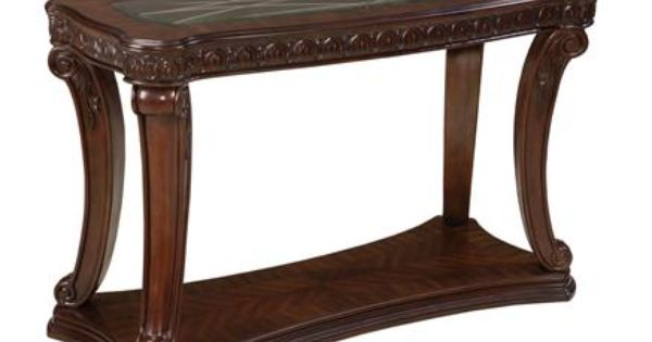 Churchill Traditional Cherry Wood Glass Sofa Table Wood Glass Sofa Table Cherry Wood