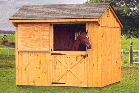10 X 10 Stall Barn Horse Barn Plans Small Horse Barns Horse Barns