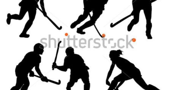 Field Hockey Silhouette On White Background Stock Vector Field Hockey Hockey Posters Hockey Inspiration