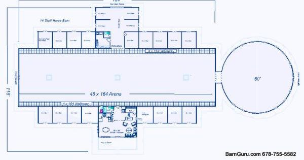 Barn Plans 10 Stall Horse Barn Design Floor Plan