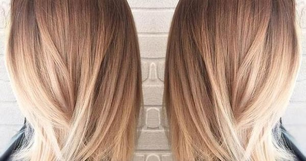 Straight Long Bob Blonde Balayage Hair Beauty At