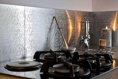 Carrelage Adhesif Inox Pour Credence Cuisine Metal Decor Idee