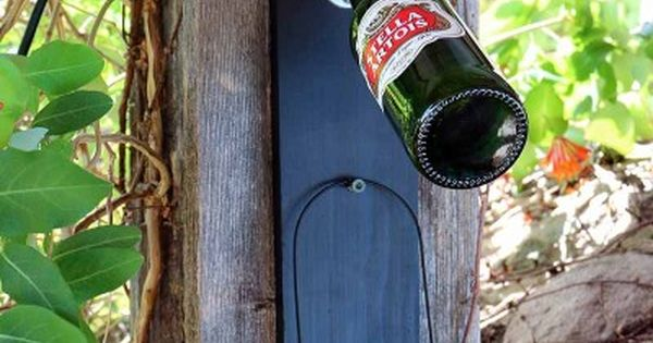 Ooh, maybe for the cottage! DIY Chalkboard Bottle Opener   Patio Decoration
