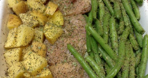 Italian Roasted Chicken with Green Beans and Potatoes.... 24 Day Challenge friendly