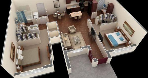 kumpulan desain rumah 3d dengan 2 kamar 3d minimalis