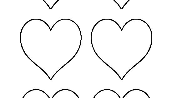 3 Inch Heart Pattern. Use The Printable Outline For Crafts