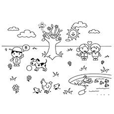 Top 35 Free Printable Spring Coloring Pages Online Black And White Cartoon Animals Black And White Spring Coloring Pages