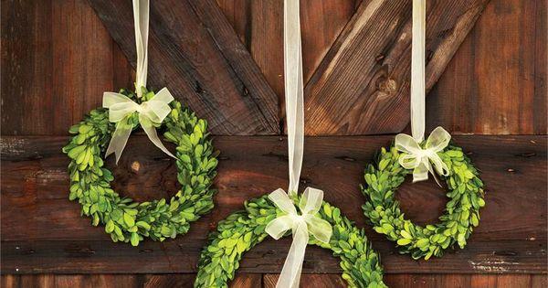 Preserved Boxwood Wreaths Holiday Entertaining