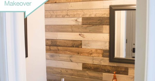 Bathroom plank wall using 39 furring strips 39 new home for Cheap alternative to stikwood