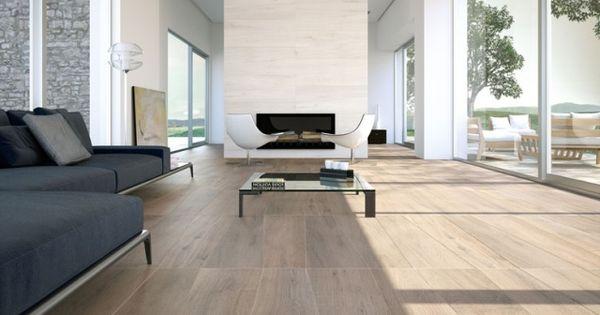 Wohnzimmer Bodenfliesen Modern Holzoptik Fensterfront | Boden ... Dunkle Fliesen Wohnzimmer Modern