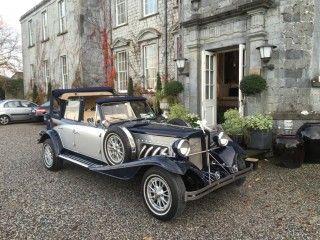 Navy Silver Beauford Wedding Car Travel Transportation Destination Weddingcar Dublin Limousine Limoservice Ireland Meath Kildare W Wedding Car Hire