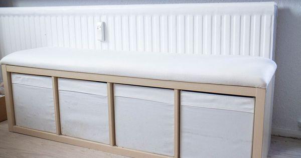 ikea hack sitzbank aus kallax regal kleine wohnung einfache diy und stabil. Black Bedroom Furniture Sets. Home Design Ideas