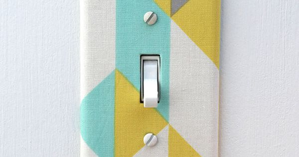 Fabric Over Light Switch Cover Can Make One From The