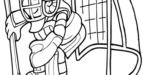 Ice hockey goalie pages coloring pages for Ice hockey coloring pages