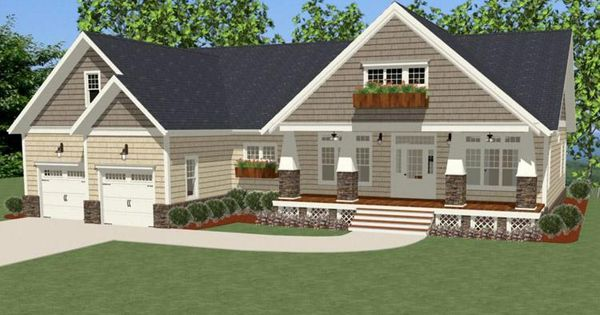 House Plan 6849 00016 Craftsman Plan 2 233 Square Feet 3 Bedrooms 2 5 Bathrooms Square Feet