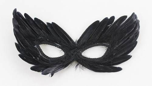 Mysterious Venetian Masquerade feather Eye  Mask Costume Party Eye Mask white