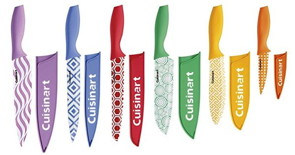 Cuisinart C55 12pr2 Advantage Color Collection 12 Piece Printed Color Cutlery Set Multicolor Colorful Knife Set Knife Sets Color Knife