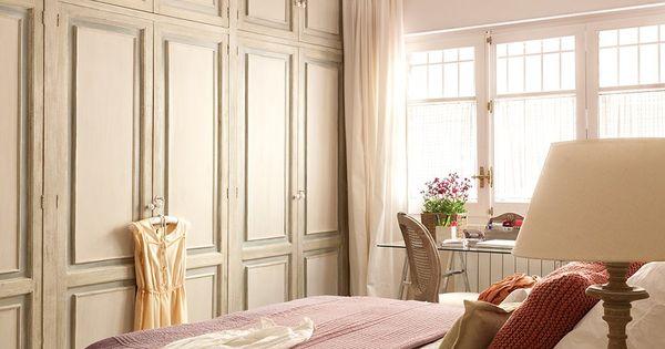 colores suaves el gran armario empotrado se ha pintado de