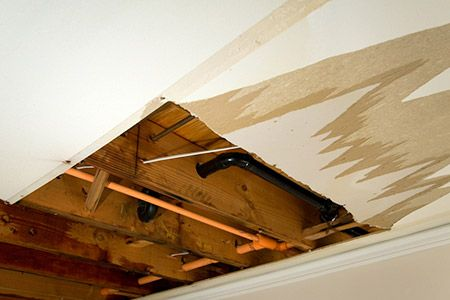 5 Steps Learn How To Repair Water Damage By Finding The Origin Of The Leak And Removing Damaged Dry Repair Ceilings Water Damaged Ceiling Water Damage Repair